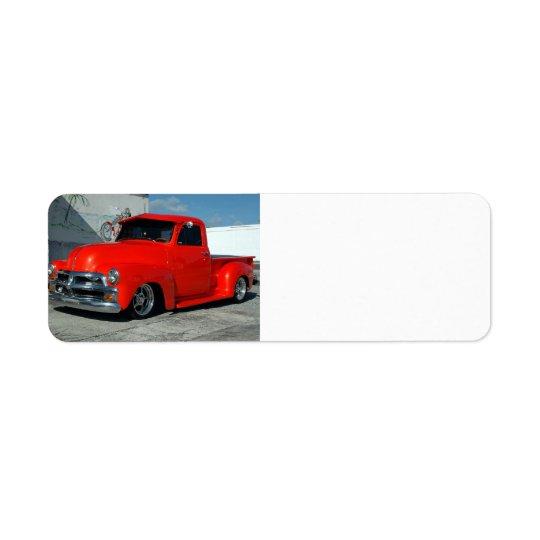 赤によってカスタマイズ小型トラック 返信用宛名ラベル