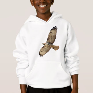赤によって後につかれるタカの鳥の野性生物動物はTシャツをからかいます