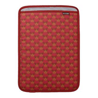 赤のかわいいトナカイ MacBook スリーブ