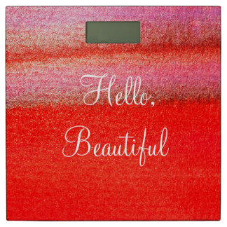 赤のこんにちは美しい体重計 体重計