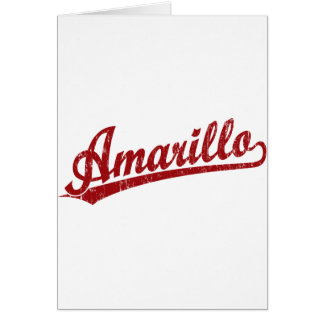赤のアマリロの原稿のロゴ カード