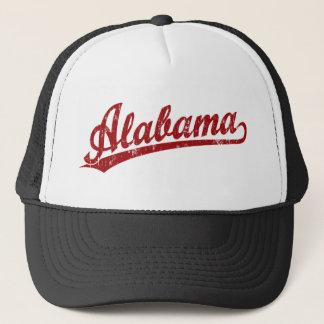 赤のアラバマの原稿のロゴ キャップ