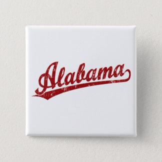 赤のアラバマの原稿のロゴ 5.1CM 正方形バッジ
