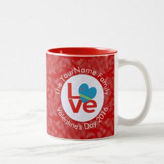 赤のアルバ愛白 ツートーンマグカップ