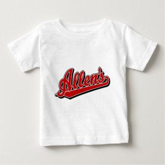 赤のアレン ベビーTシャツ