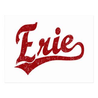赤のエリーの原稿のロゴ ポストカード