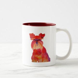 赤のオースティン ツートーンマグカップ
