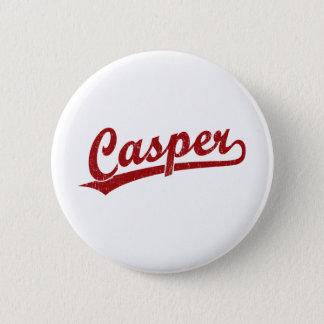 赤のキャスパーの原稿のロゴ 5.7CM 丸型バッジ