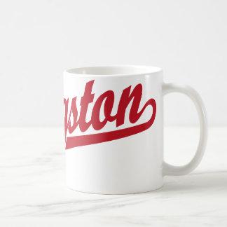 赤のキングストンの原稿のロゴ コーヒーマグカップ