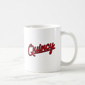 赤のクインシー コーヒーマグカップ