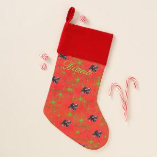 赤のクリスマスの子猫猫のタキシード クリスマスストッキング