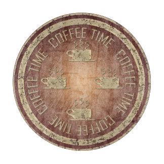 赤のコーヒー時間金ゴールド カッティングボード