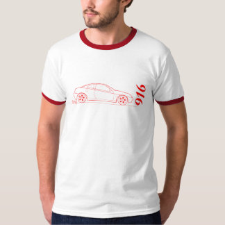 赤のサイドの輪郭からのアルファ916 Gtv Tシャツ