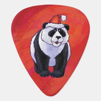 赤のサンタの帽子のパンダくま ギターピック