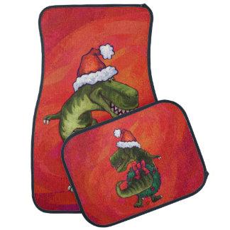 赤のサンタの帽子のTRexディーノ カーマット