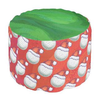 赤のサンタの帽子パターンのゴルフ・ボール プーフ