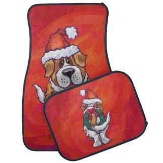 赤のサンベルナール峠のクリスマス カーマット