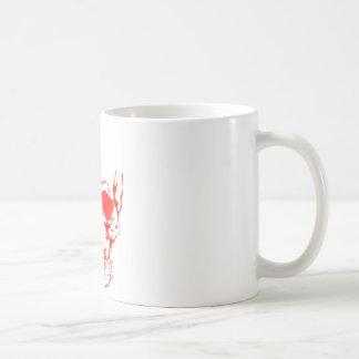 赤のスカル コーヒーマグカップ