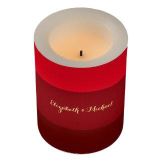 赤のストライプ親記念日の家の装飾の蝋燭 LEDキャンドル