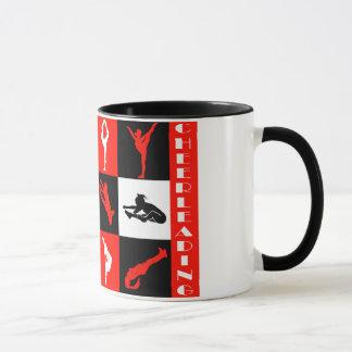 赤のチアリーダーをするブロックのマグ マグカップ