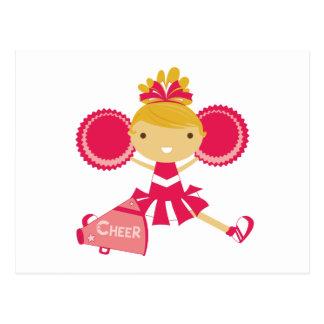 赤のチアリーダー ポストカード