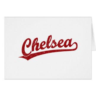 赤のチェルシーの原稿のロゴ カード