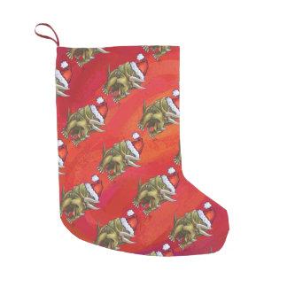 赤のトリケラトプスのクリスマス スモールクリスマスストッキング