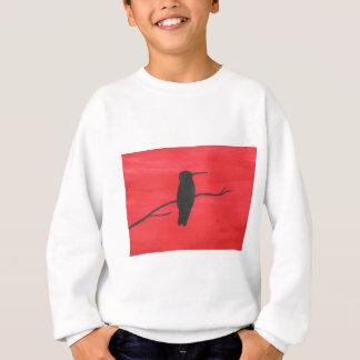 赤のハチドリ スウェットシャツ