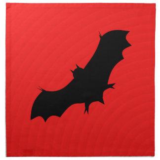 赤のハロウィンのこうもり ナプキンクロス
