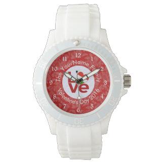 赤のハンガリー愛白 腕時計