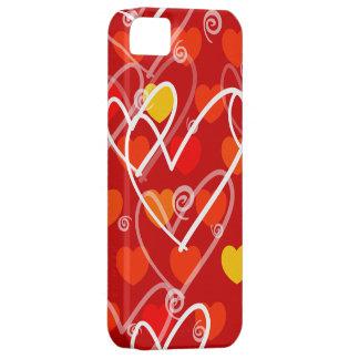 赤のハートの背景、iPhoneの場合 iPhone SE/5/5s ケース