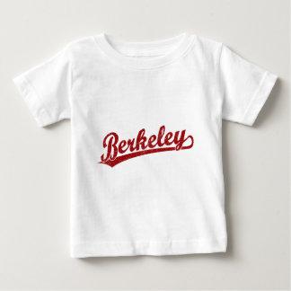 赤のバークレーの原稿のロゴ ベビーTシャツ