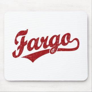 赤のファーゴの原稿のロゴ マウスパッド