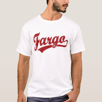 赤のファーゴの原稿のロゴ Tシャツ