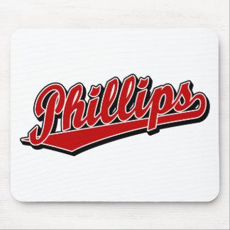 赤のフィリップス原稿のロゴ マウスパッド