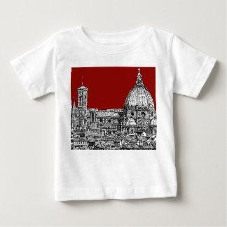赤のフィレンツェイタリア ベビーTシャツ