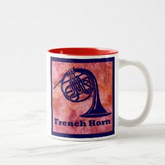 赤のフレンチ・ホルン ツートーンマグカップ