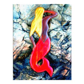 赤のブロンドの人魚 レターヘッド