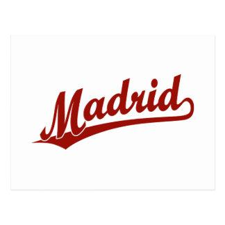 赤のマドリードの原稿のロゴ ポストカード