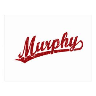 赤のマーフィーの原稿のロゴ ポストカード