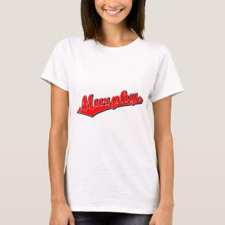 赤のマーフィーの原稿のロゴ Tシャツ
