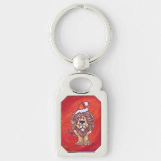 赤のライオンのクリスマス キーホルダー