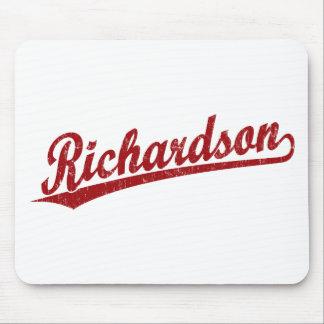赤のリチャードソンの原稿のロゴ マウスパッド