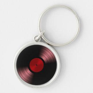 赤のレトロのレコードのアルバム キーホルダー