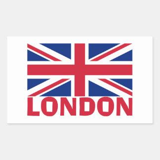 赤のロンドン 長方形シール