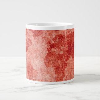 赤の世界の地図 ジャンボコーヒーマグカップ