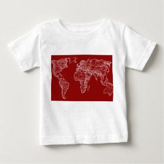 赤の地図 ベビーTシャツ