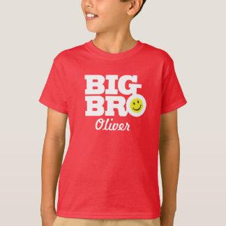 赤の大きいbroの名前の白はTシャツをからかいます Tシャツ