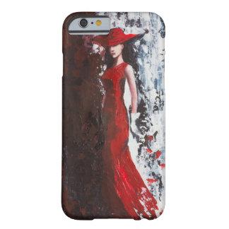 赤の女性 BARELY THERE iPhone 6 ケース