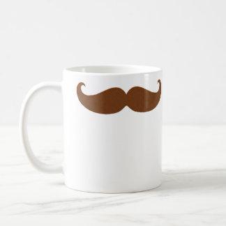 赤の小柄いハンドルバーの髭 コーヒーマグカップ